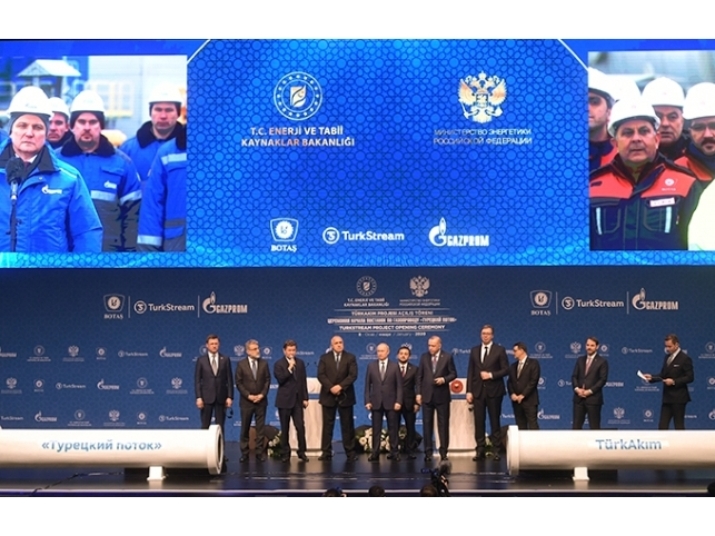 Launch ceremony for the TurkStream Pipeline held in Istanbul