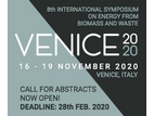 VENICE 2020 – 8th International Symposium on Energy from Biomass and Waste